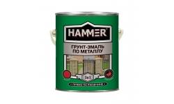 Грунт-эмаль по металлу HAMMER  Зеленая 2,7 кг