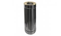 Труба двустенная (сэндвич) D120/220 мм, L=0,75 м из нержавеющей стали 304/430