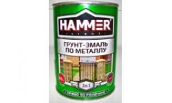 Грунт-эмаль по металлу HAMMER  Красная 0,9 кг